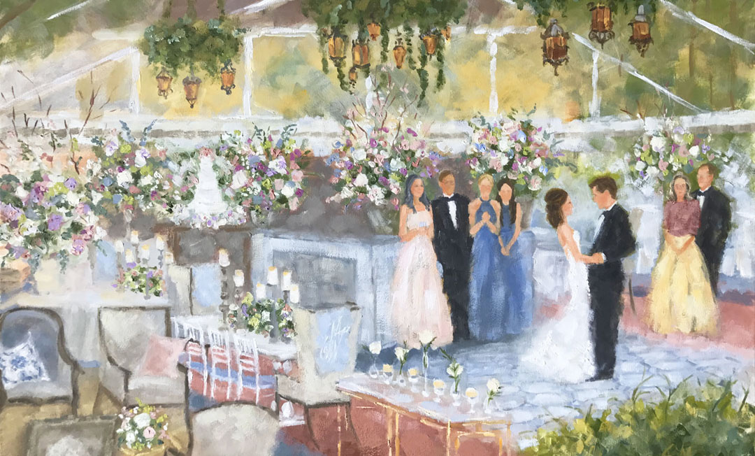 wedding painting dallas, houston