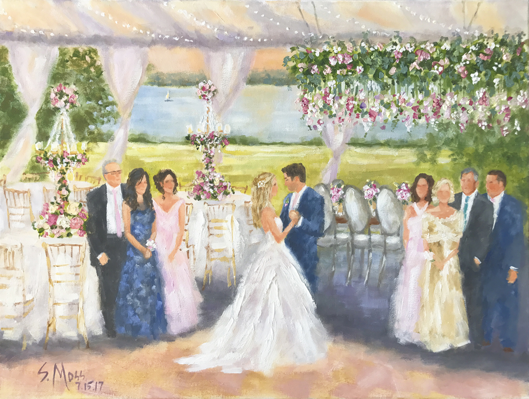 wedding painting, New England