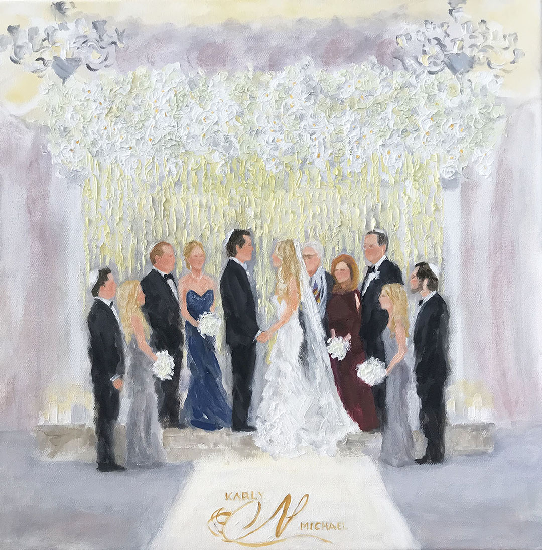 Live Event Painter, Susan Moss Cooper. wedding painting