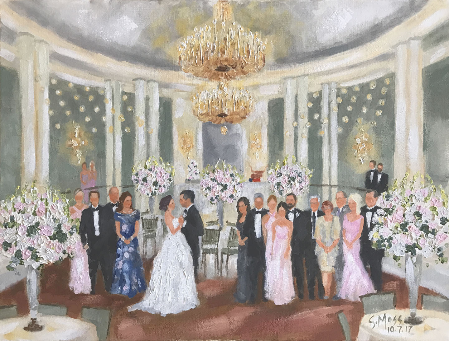 luxury wedding painting in oil