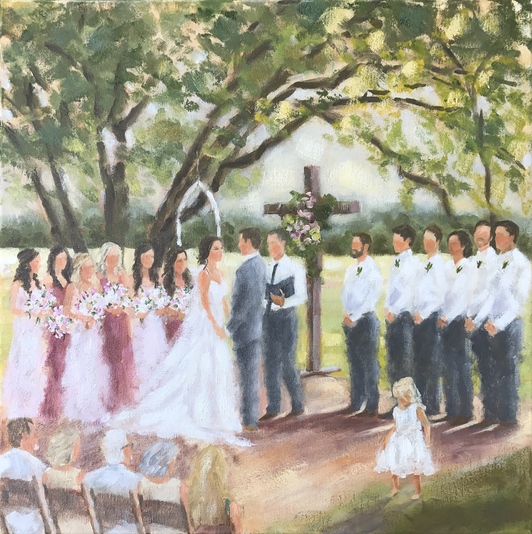 wedding painting, Texas